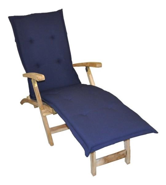 auflage blau f r deckchair kissen polster liegestuhl. Black Bedroom Furniture Sets. Home Design Ideas